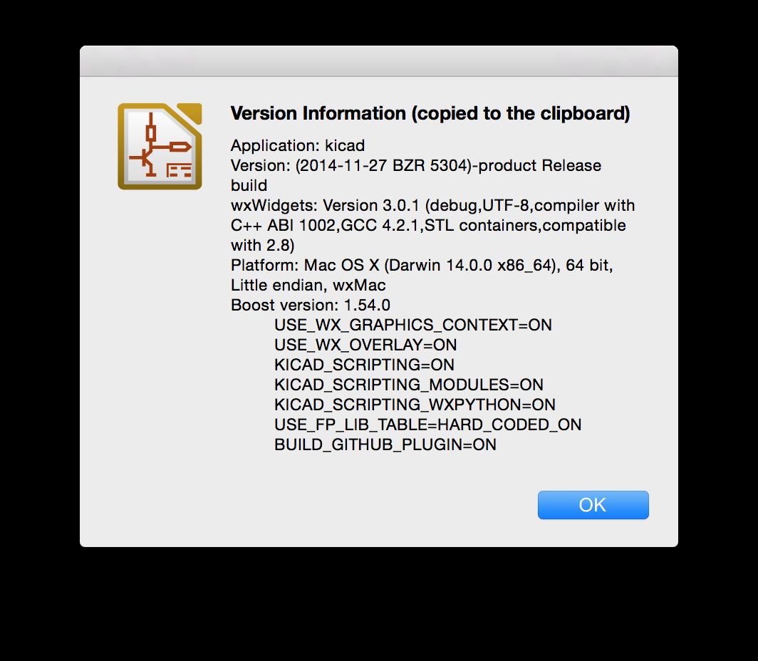 HowTo install KiCad on Mac OS X 10 10